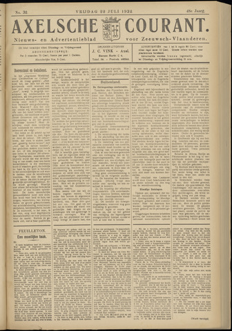 Axelsche Courant 1932-07-22