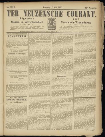Ter Neuzensche Courant. Algemeen Nieuws- en Advertentieblad voor Zeeuwsch-Vlaanderen / Neuzensche Courant ... (idem) / (Algemeen) nieuws en advertentieblad voor Zeeuwsch-Vlaanderen 1892-05-07