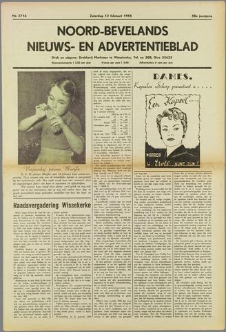 Noord-Bevelands Nieuws- en advertentieblad 1955-02-12