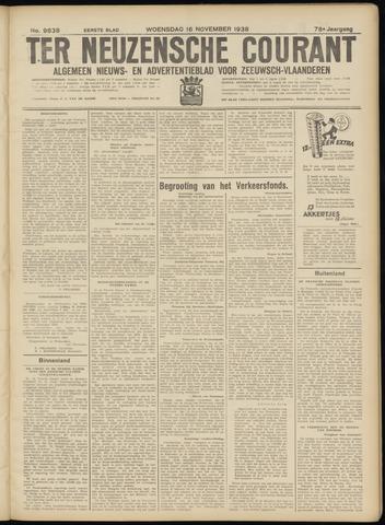 Ter Neuzensche Courant. Algemeen Nieuws- en Advertentieblad voor Zeeuwsch-Vlaanderen / Neuzensche Courant ... (idem) / (Algemeen) nieuws en advertentieblad voor Zeeuwsch-Vlaanderen 1938-11-16
