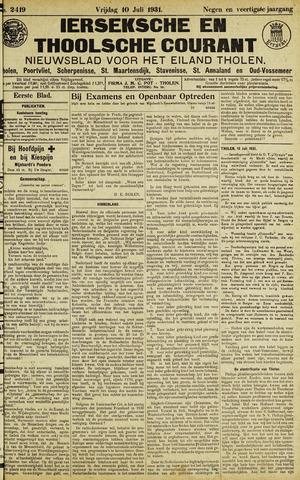 Ierseksche en Thoolsche Courant 1931-07-10