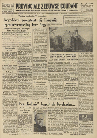 Provinciale Zeeuwse Courant 1958-06-21