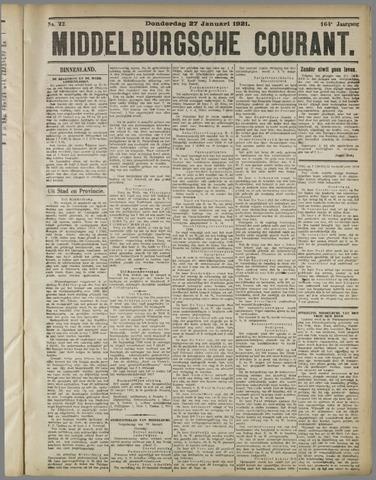 Middelburgsche Courant 1921-01-27
