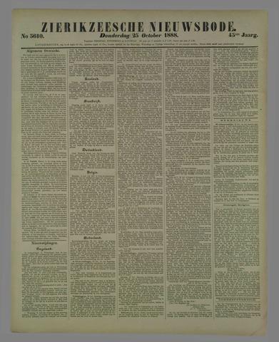 Zierikzeesche Nieuwsbode 1888-10-25