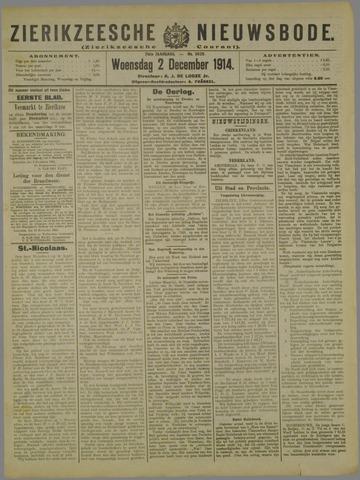 Zierikzeesche Nieuwsbode 1914-12-02