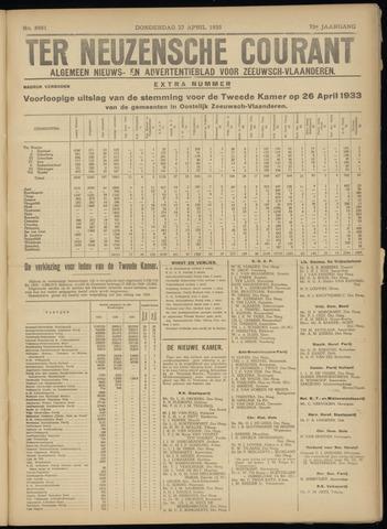 Ter Neuzensche Courant. Algemeen Nieuws- en Advertentieblad voor Zeeuwsch-Vlaanderen / Neuzensche Courant ... (idem) / (Algemeen) nieuws en advertentieblad voor Zeeuwsch-Vlaanderen 1933-04-27