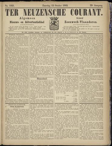 Ter Neuzensche Courant. Algemeen Nieuws- en Advertentieblad voor Zeeuwsch-Vlaanderen / Neuzensche Courant ... (idem) / (Algemeen) nieuws en advertentieblad voor Zeeuwsch-Vlaanderen 1883-10-13
