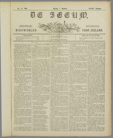 De Zeeuw. Christelijk-historisch nieuwsblad voor Zeeland 1898-11-01