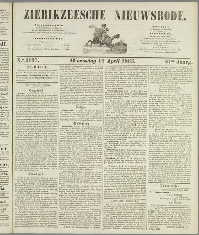 Zierikzeesche Nieuwsbode 1865-04-12