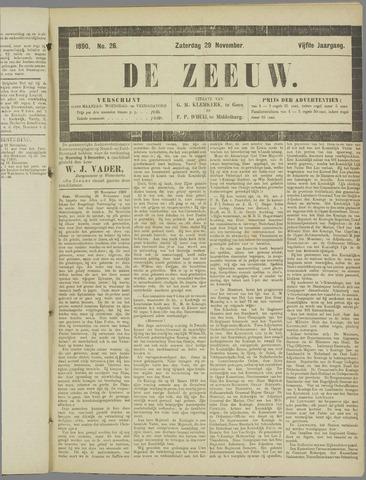 De Zeeuw. Christelijk-historisch nieuwsblad voor Zeeland 1890-11-29