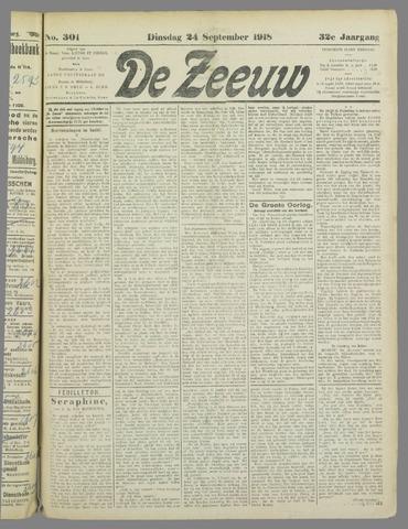 De Zeeuw. Christelijk-historisch nieuwsblad voor Zeeland 1918-09-24