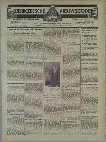 Zierikzeesche Nieuwsbode 1940-10-17