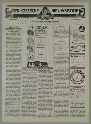 Zierikzeesche Nieuwsbode 1937-11-27