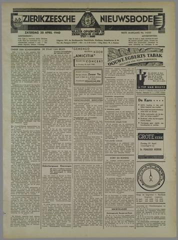 Zierikzeesche Nieuwsbode 1940-04-20