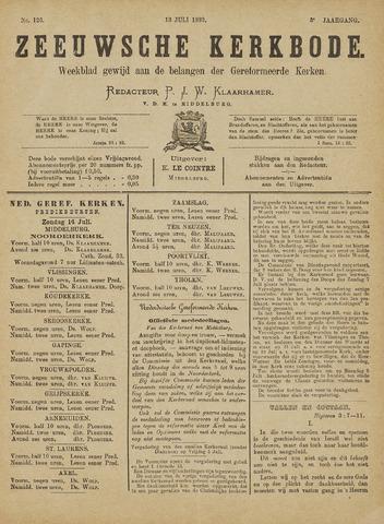 Zeeuwsche kerkbode, weekblad gewijd aan de belangen der gereformeerde kerken/ Zeeuwsch kerkblad 1889-07-13