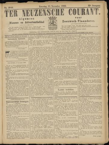 Ter Neuzensche Courant. Algemeen Nieuws- en Advertentieblad voor Zeeuwsch-Vlaanderen / Neuzensche Courant ... (idem) / (Algemeen) nieuws en advertentieblad voor Zeeuwsch-Vlaanderen 1899-11-18