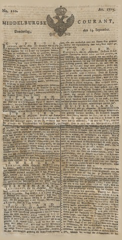 Middelburgsche Courant 1775-09-14