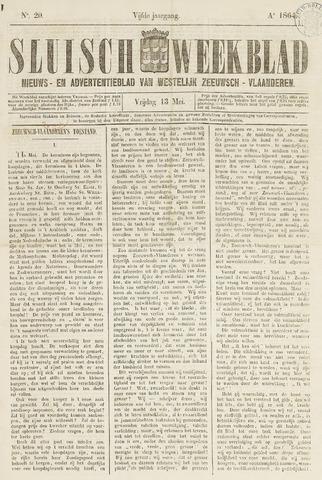 Sluisch Weekblad. Nieuws- en advertentieblad voor Westelijk Zeeuwsch-Vlaanderen 1864-05-13