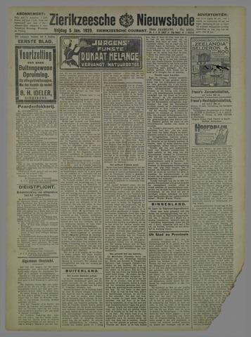 Zierikzeesche Nieuwsbode 1923-01-05
