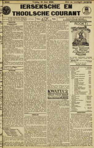 Ierseksche en Thoolsche Courant 1926-06-18