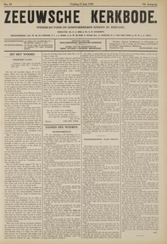 Zeeuwsche kerkbode, weekblad gewijd aan de belangen der gereformeerde kerken/ Zeeuwsch kerkblad 1940-06-21