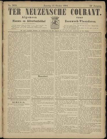 Ter Neuzensche Courant. Algemeen Nieuws- en Advertentieblad voor Zeeuwsch-Vlaanderen / Neuzensche Courant ... (idem) / (Algemeen) nieuws en advertentieblad voor Zeeuwsch-Vlaanderen 1884-10-11