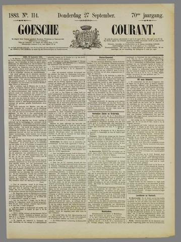 Goessche Courant 1883-09-27