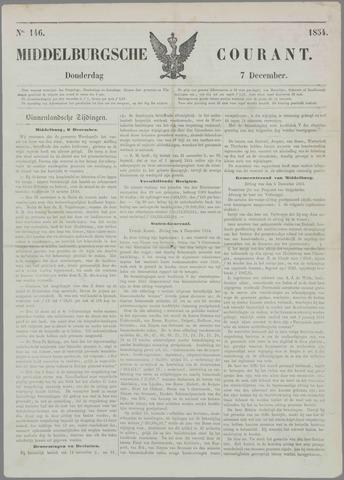 Middelburgsche Courant 1854-12-07