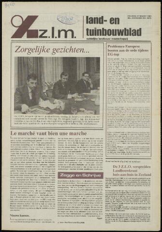 Zeeuwsch landbouwblad ... ZLM land- en tuinbouwblad 1981-03-27