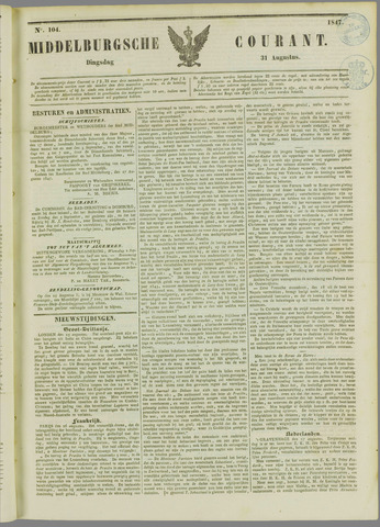 Middelburgsche Courant 1847-08-31