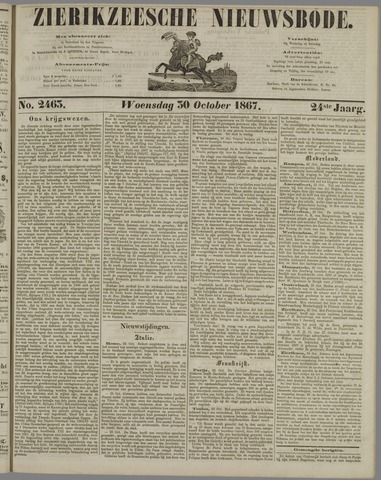 Zierikzeesche Nieuwsbode 1867-10-30