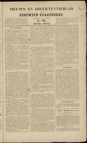 Ter Neuzensche Courant. Algemeen Nieuws- en Advertentieblad voor Zeeuwsch-Vlaanderen / Neuzensche Courant ... (idem) / (Algemeen) nieuws en advertentieblad voor Zeeuwsch-Vlaanderen 1855-05-02