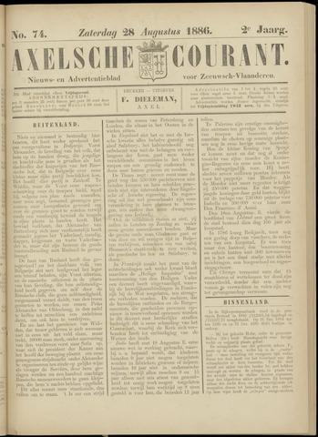 Axelsche Courant 1886-08-28