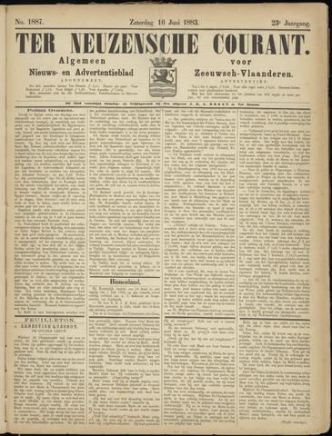 Ter Neuzensche Courant. Algemeen Nieuws- en Advertentieblad voor Zeeuwsch-Vlaanderen / Neuzensche Courant ... (idem) / (Algemeen) nieuws en advertentieblad voor Zeeuwsch-Vlaanderen 1883-06-16