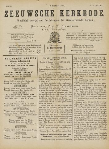 Zeeuwsche kerkbode, weekblad gewijd aan de belangen der gereformeerde kerken/ Zeeuwsch kerkblad 1888-03-03