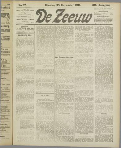 De Zeeuw. Christelijk-historisch nieuwsblad voor Zeeland 1915-12-28