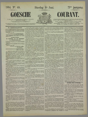 Goessche Courant 1884-06-10