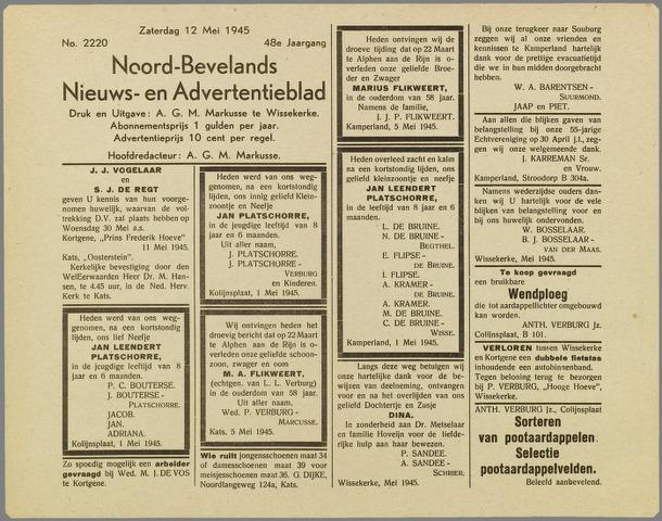 Noord-Bevelands Nieuws- en advertentieblad 1945-05-12