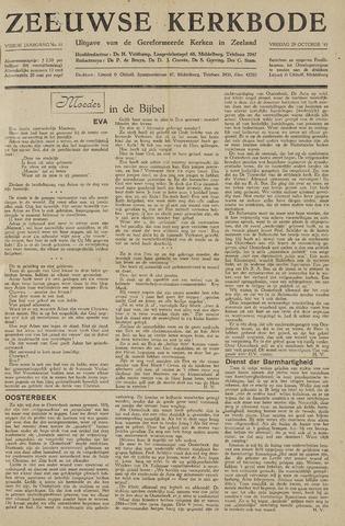 Zeeuwsche kerkbode, weekblad gewijd aan de belangen der gereformeerde kerken/ Zeeuwsch kerkblad 1948-10-29