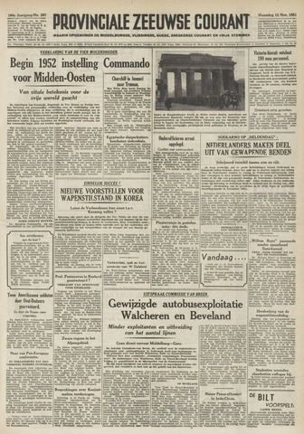 Provinciale Zeeuwse Courant 1951-11-12