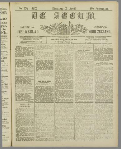 De Zeeuw. Christelijk-historisch nieuwsblad voor Zeeland 1912-04-02