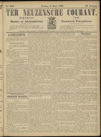 Ter Neuzensche Courant. Algemeen Nieuws- en Advertentieblad voor Zeeuwsch-Vlaanderen / Neuzensche Courant ... (idem) / (Algemeen) nieuws en advertentieblad voor Zeeuwsch-Vlaanderen 1893-03-11