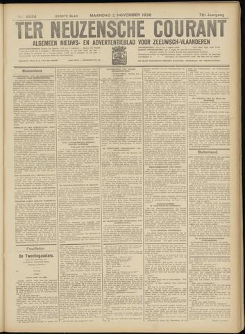 Ter Neuzensche Courant. Algemeen Nieuws- en Advertentieblad voor Zeeuwsch-Vlaanderen / Neuzensche Courant ... (idem) / (Algemeen) nieuws en advertentieblad voor Zeeuwsch-Vlaanderen 1936-11-02