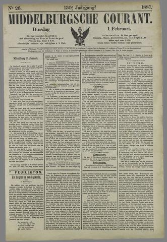Middelburgsche Courant 1887-02-01