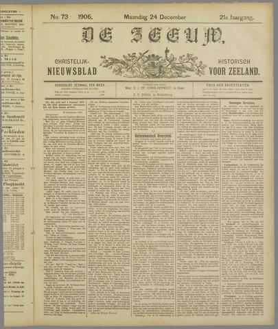 De Zeeuw. Christelijk-historisch nieuwsblad voor Zeeland 1906-12-24