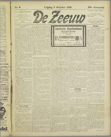 De Zeeuw. Christelijk-historisch nieuwsblad voor Zeeland 1921-10-07