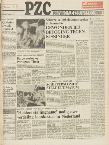 Provinciale Zeeuwse Courant 1975-08-22