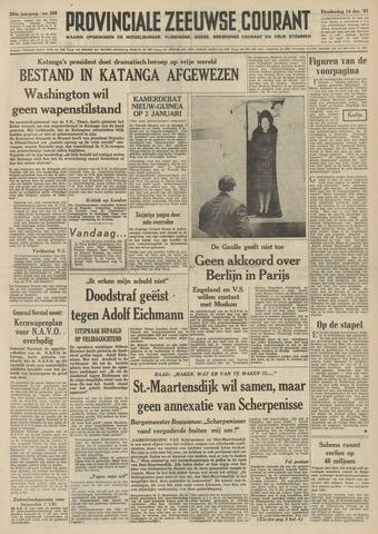 Provinciale Zeeuwse Courant 1961-12-14