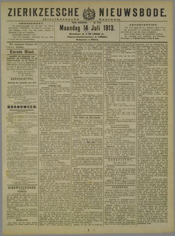 Zierikzeesche Nieuwsbode 1913-07-14