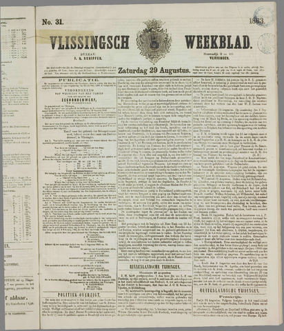 Vlissings Weekblad 1863-08-29